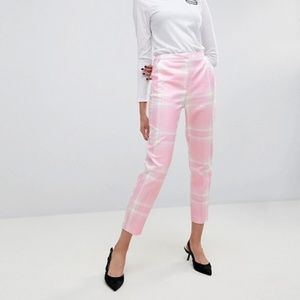ASOS Tailored Slim PANTS in Pink Check